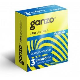 Классические презервативы с обильной смазкой Ganzo Classic - 3 шт.